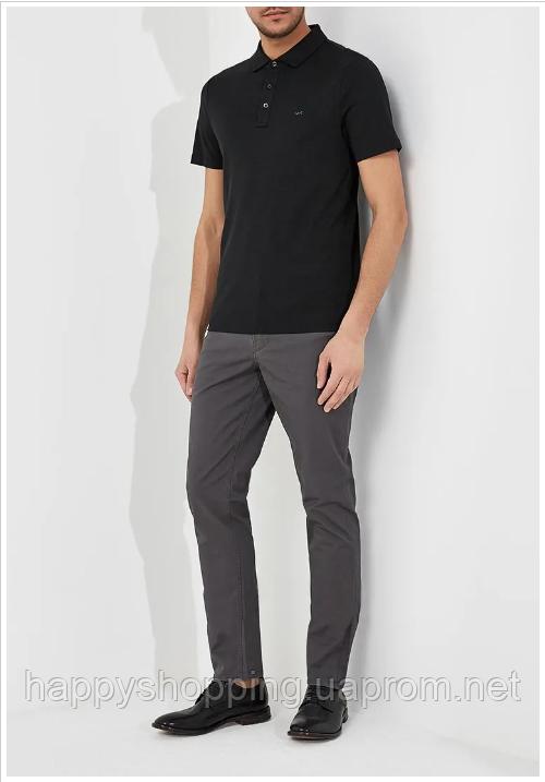 Мужские стильные оригинальные серые хлопковые брюки  популярного бренда Michael Kors