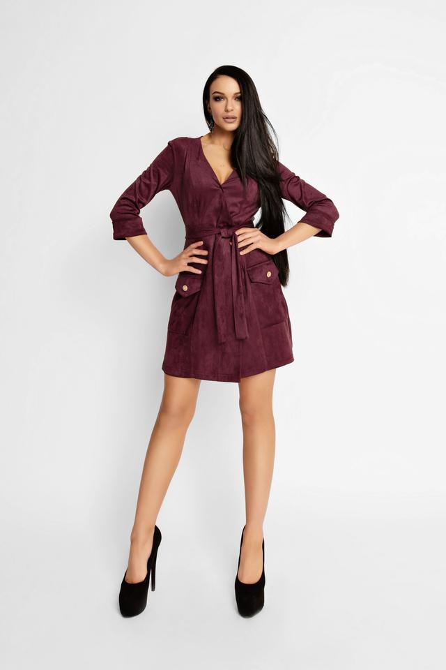 Женский комбинезон-трансформер, платье, марсала, молодёжный, нарядный, деловой, стильный, оригинальный