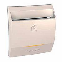 Выключатель карточный с индикацией и задержкой времени Слоновая кость Schneider Electric Unica (MGU3.540.25), фото 1
