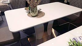 Стол в современном стиле большой  ROCKFORD White satin (Рокфорд )T-7255 ,  Evrodim
