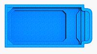 "Композитный бассейн ""Атлантида 6"" (длина: 5,85 м, ширина: 2,9 м, глубина: 1,1-1,5 м с перепадом глубины), фото 1"