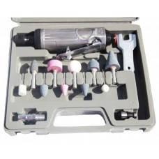 Зачистная машинка пневматическая с комплектом шлифовальных камней HESHITOOLS HS-B1040, фото 2