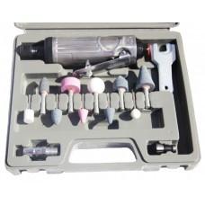 Зачистная машинка пневматическая с комплектом шлифовальных камней HESHITOOLS HS-B1040