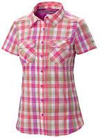 Женская рубашка Columbia SATURDAY TRAIL™ III PLAID SHORT SLEEVE SHIRT розовая
