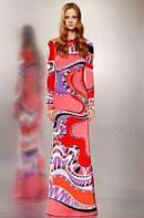 Красивое яркое длинное платье  PUCCI