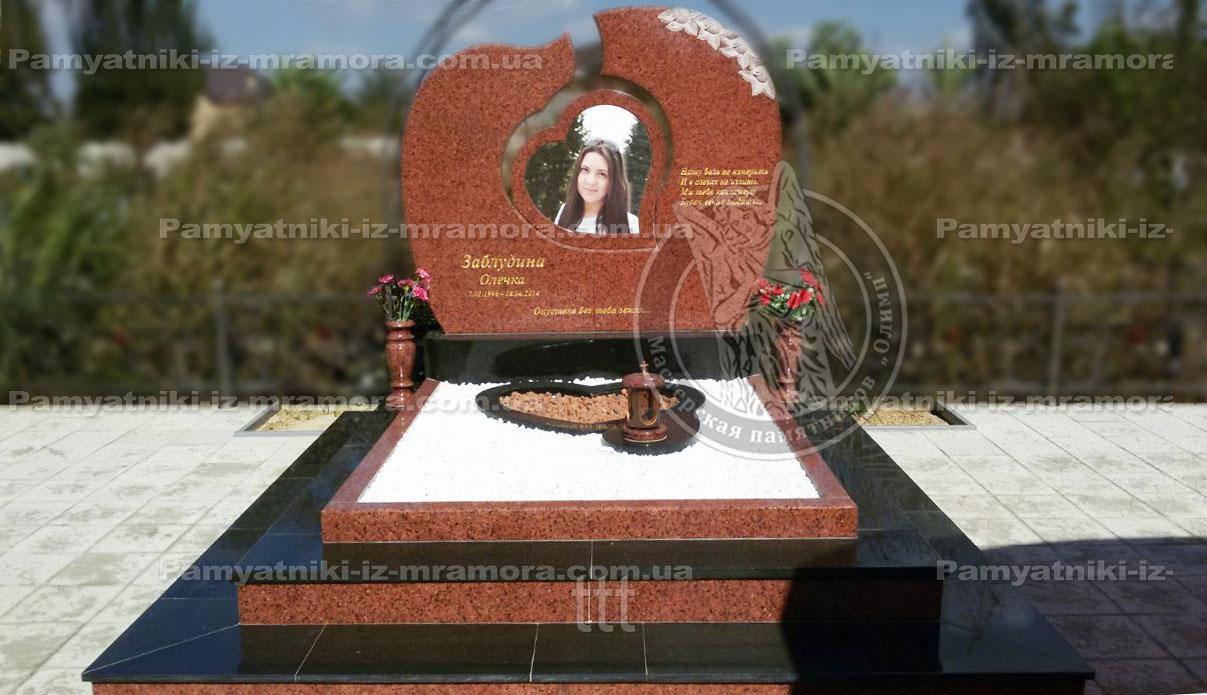 Памятник из гранита изготовили и отправили г.  Армавир  Россия №38