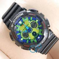 Наручные мужские часы Casio GA-120 Black/Blue/Light green