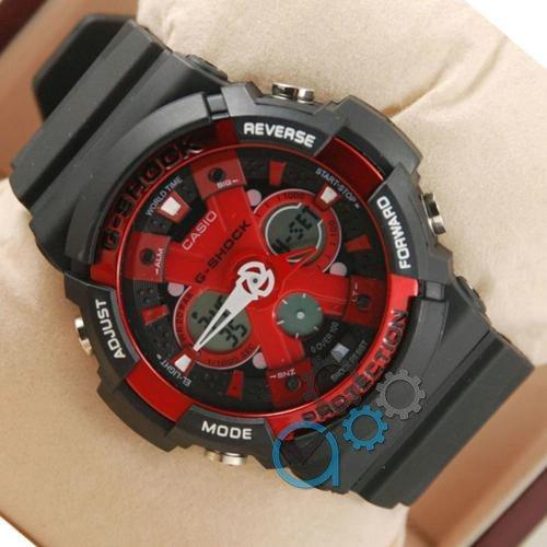 Наручные мужские часы Casio GA-200 Black/Red