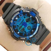 Наручные мужские часы Casio GA-200 Black/Blue