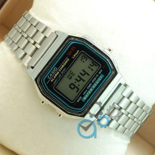 Наручные мужские часы Casio F-91W Water Resist Silver
