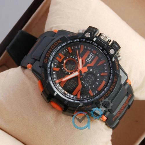 Наручные мужские часы Casio D-1365A Black/Orange
