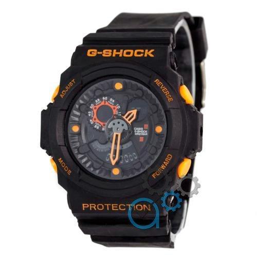Наручные мужские часы Casio GA-300 Black/Orange