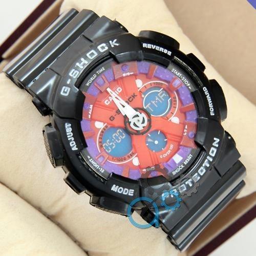 Наручные мужские часы G-Shock GA-120 Black-Purple-Red