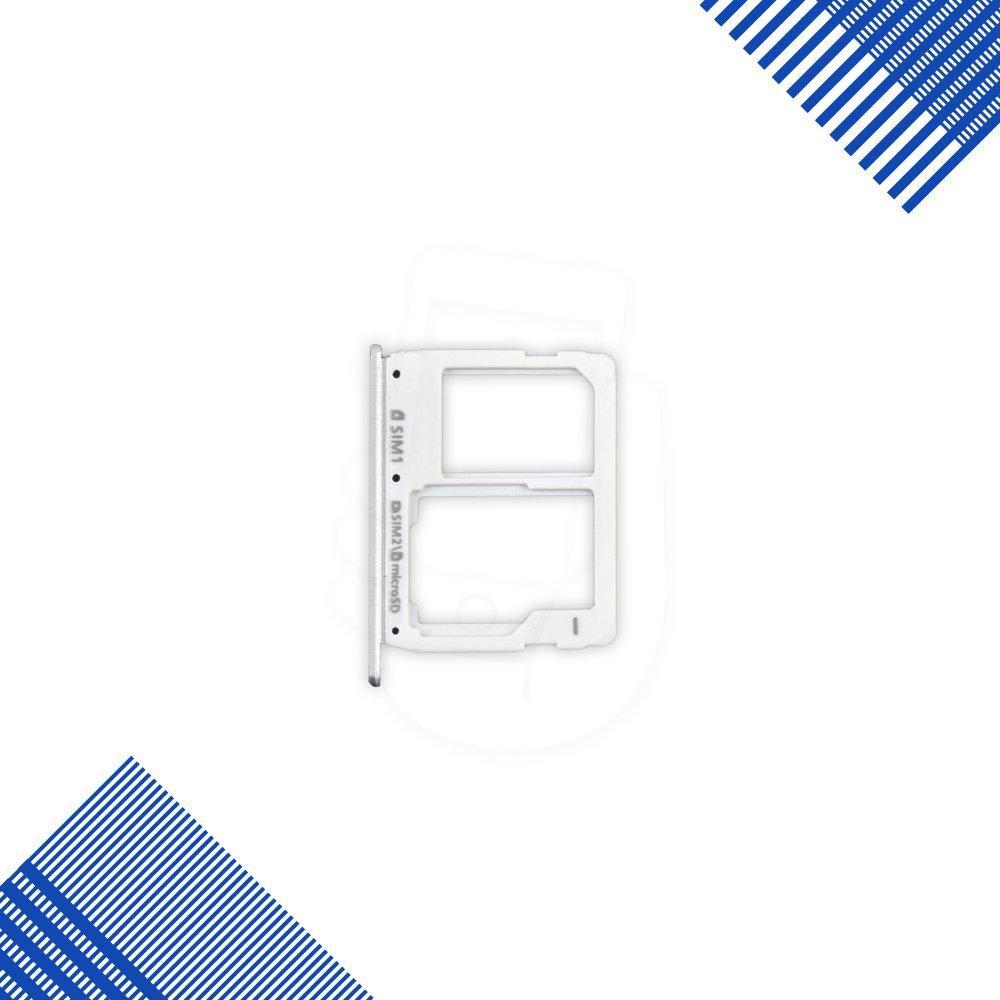 Держатель сим карты для Samsung A310, A510, A710, цвет серый, 2 sim