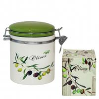 Ёмкость для сыпучих продуктов, 0,5л 'Оливки' (h-10 см, d-10 см