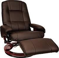 Массажное кресло HOME&OFFICE, подогрев, коричневое