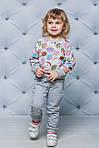 Детский спортивный костюм для девочки  с принтом Пончики, фото 3