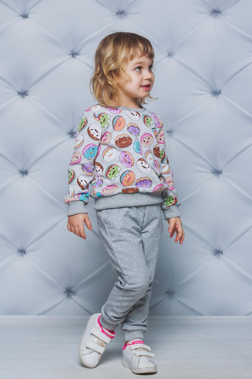 Детский спортивный костюм для девочки  с принтом Пончики