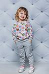 Детский спортивный костюм для девочки  с принтом Пончики, фото 2