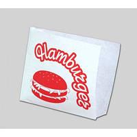 Уголок для Гамбургера, 150х140х0 (белый крафт 40гр.)