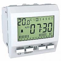 Цифровой будильник Белый Schneider Electric Unica (MGU3.545.18), фото 1