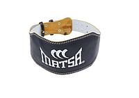 Ремень для тяжелой атлетики MATSA кож/зам р. М (на объем 75-95 см), шир. 15 см.на пряжке