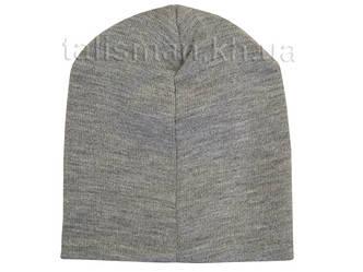 РАМШТАЙН (лого) шапка бини с вышивкой серая, фото 2