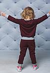 Детский спортивный костюм для девочки  Демисезонный Бордовый, фото 2