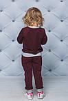Детский спортивный костюм для девочки  Демисезонный Бордовый, фото 3