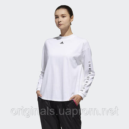 Белый лонгслив Adidas Sport 2 Street W DV0746  , фото 2