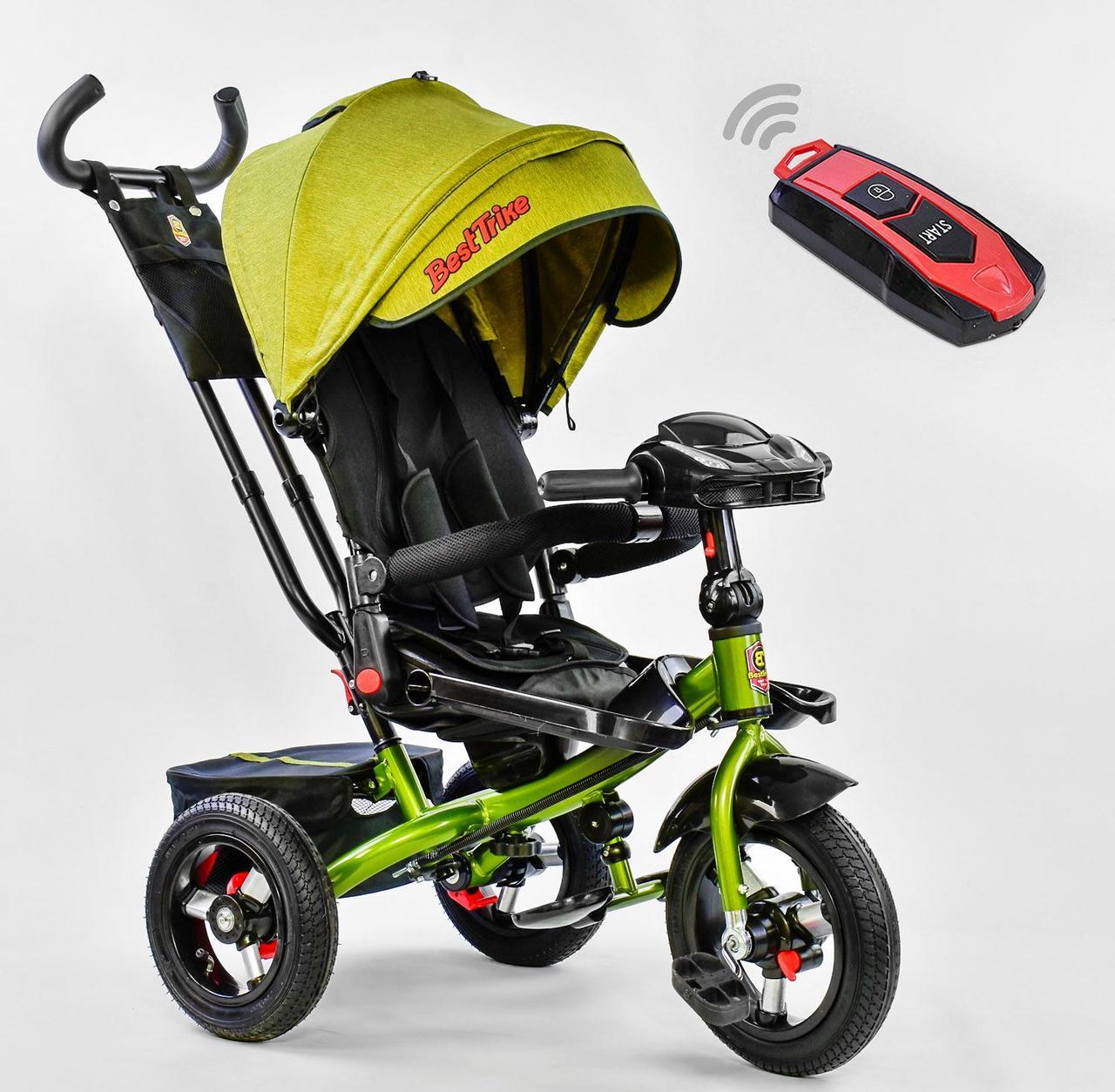 Bелосипед трехколесный Best Trike 6088 F - 3110 надувными колесами Зеленый 75405