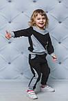 Детский спортивный костюм для девочки  Демисезонный Черный, фото 3