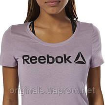 Футболка Reebok для спорта женская Scoop Neck Tee DU4650, фото 2