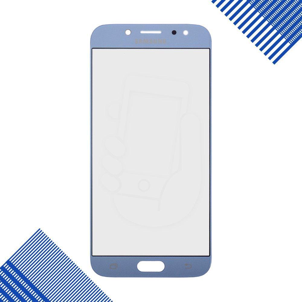 Стекло корпуса для Samsung J730F Galaxy J7 (2017), цвет синий