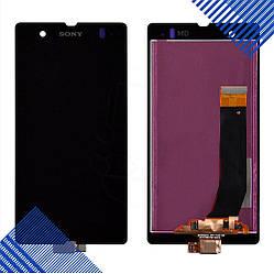 Дисплей Sony Xperia Z (C6602, C6603, C6606, L36i, L36h, L36a) с тачскрином в сборе, цвет черный