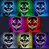Світна маска Неонова маска - судний день, маска на хеловін Неонова LED маска Оригінал