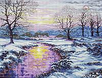 Набор для вышивки крестом Зимний закат. Размер: 46*35 см