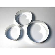 Кольца для гарнира металл 3шт.высота 4,5см (код 04022)