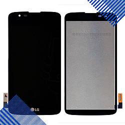 Дисплей (экран) LG K330 K7 LTE(LG M1), MS330, LS675 Tribute с тачскрином в сборе, цвет черный