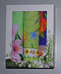 Набор вафельных полотенец 3 шт 75х35 см (N010)