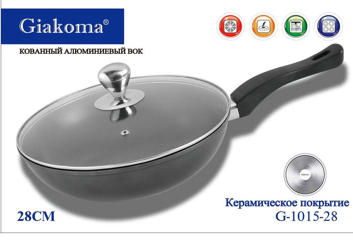 Кованный алюминиевый вок Giakoma G-1015-28