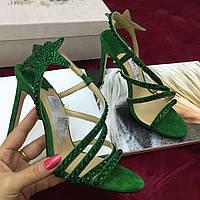 Босоножки Jimmy Choo женские летние на высоком каблуке, много цветов, новая коллекция