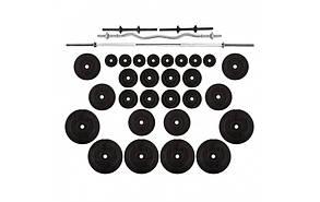 Комплект композитних штанг: 4 грифа + 120 кг дисків з протиударним ABS покриттям