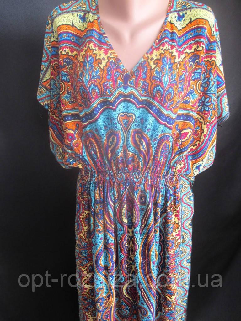 Длинные платья из штапеля для женщин.
