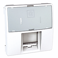 Накладка для компьютерной розетки AMP/KRONE 2-модуля Белый Unica Schneider Electric (MGU9.460.18)
