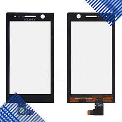 Тачскрин Sony ST25i, цвет черный
