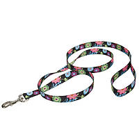 """Поводок нейлоновый """"Дикие Цветы"""" для собак (1,5смХ1,2м) Coastal™"""