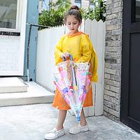 Дождевик детский с местом под рюкзак 110-120 см