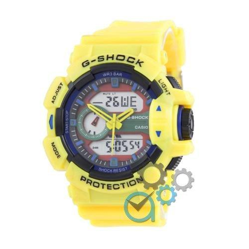Наручные мужские часы Casio G-Shock GBA-400-1 Yelloy-Black-Blue