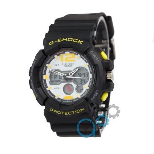 Наручные мужские часы G-Shock D-1370A Black/Yelloy - White